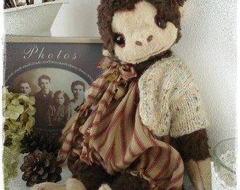 "PDF Instant Download - Pattern / E-Book Monkey "" JIMMY "" :) - 10 Inch - by Eileen Seifert - Teddy-Manufaktur.de"