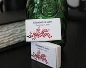 100 Cherry Blossom Matchbox Wedding Favors