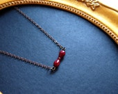 RESERVED FOR Carmen. Maroon crystal bead necklace. RC10