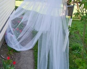 Custom 3 tier Royal Cathedral Length Wedding Veil Made to Order Blusher Cut Edge