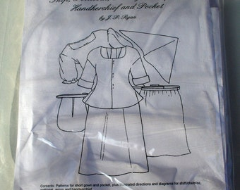 Pattern: 18th Century Woman's Basic Clothing S, L, XL  and XXL