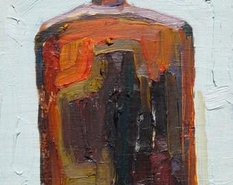 Brown Flat Bottle