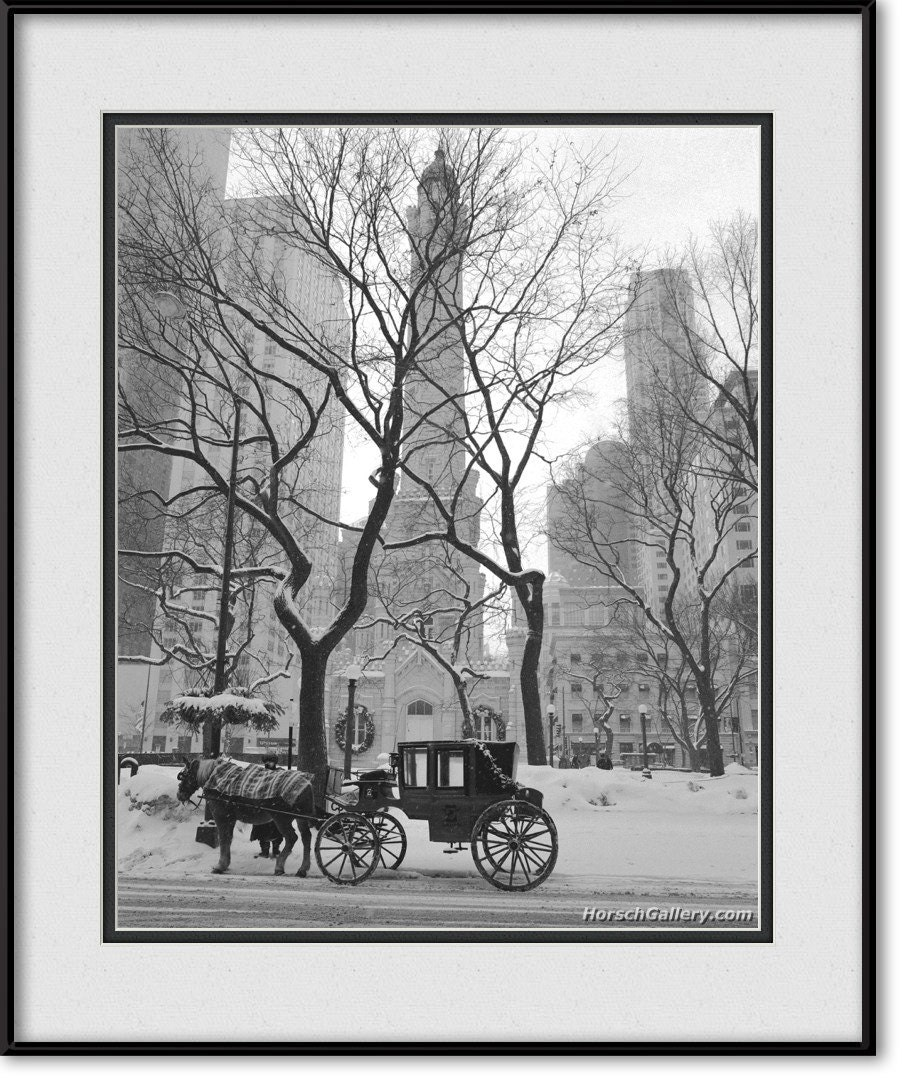 Chicago Water Tower On Michigan Avenue Horse Amp Carriage