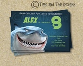 Shark -DIY Printable Personalized Custom Invitation