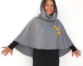 Poncho, Hoodie, Flag Clothing,Chritmas Sale, Christmas Cape, Women Clothing, Women Outerwear, Cape Clothing