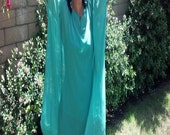 CLEARANCE ~ Emerald Green Sheer Chiffon Poncho Top - One Size