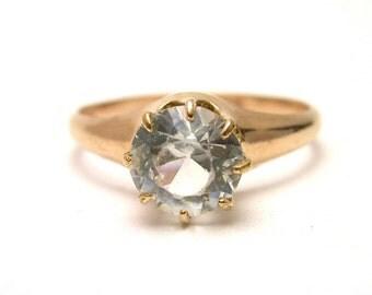 Vintage Ring - 14k Rose Gold Filled Vintage Engagement Ring - Size 8 - Promise Ring