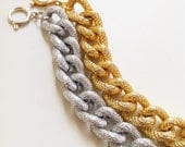 Chunky Textured Bracelet - Gold only
