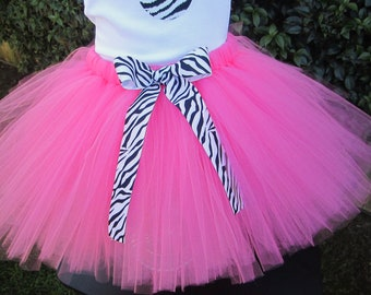 Girls Pink and Zebra Tutu Great for Birthday,Parties and Photos & Props
