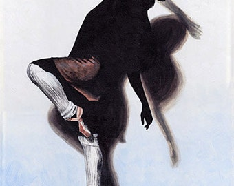 Original Acrylic Painting on Canvas 'Granada' 16x20 Dancer Ballet Modern Contemporary