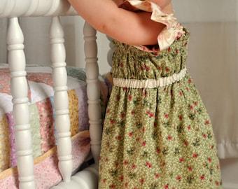 Big Sister Ruffle Dress  -  Baby Toddler Girls Beginner Easy PDF Dress Pattern Sizes 6-12 months, 2, 3, 4, 5, 6, 7