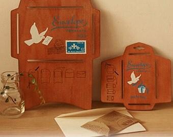 Wooden Envelope Template - DIY Envelope - Envelope Maker - Japanese Wooden Envelope Template - a Small one And a Big one