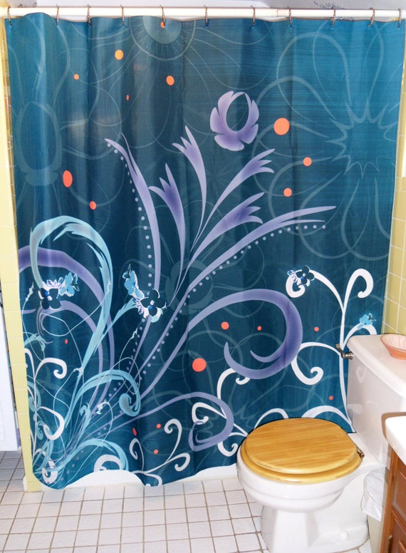 "Shower Curtain 69"" x 70"" - ""Kalenchoe Blooms"""
