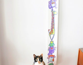 personalized canvas growth chart