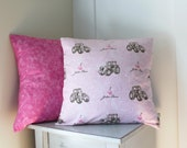 63%OFF - 2 Pink Pillow Covers - 18x18 Throw Pillows - John Deere Pillow Covers - Solid Pink - Girls Bedroom Decor