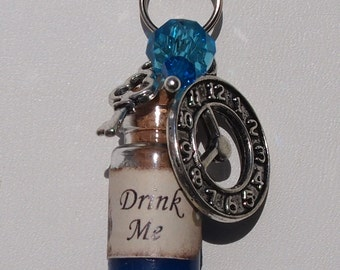 Alice Drink Me Cell Phone Charm
