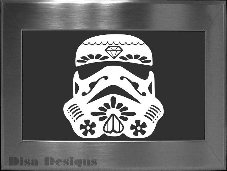 Sugar Skull Stormtrooper Mashup Vinyl Decal Car By
