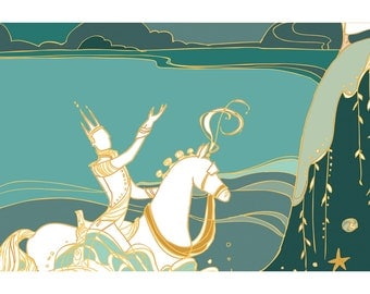 Sweet Bride 3: Along Came a White Steed... Art Print