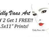 "PRINT SALE- Buy 2 8.5x11"" Prints Get 1 Free"