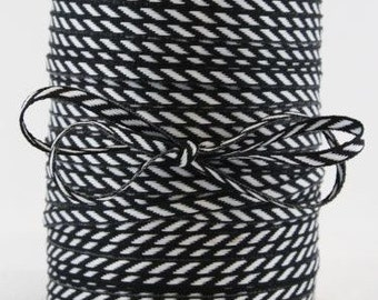 BLACK Solid/Diagonal Stripes RIBBON - Stationery, Packages, Homemade Gifts, Tags, Cards, DIY, Crafts, Shower, Party
