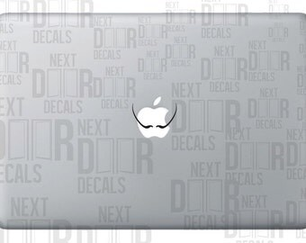 Salvador Dali Mustache Inspired Surreal Apple Macbook Laptop Sticker Decal