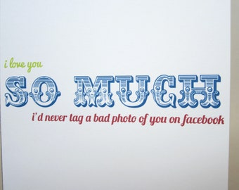 "Funny Card, Friendship Card, Just Because Card - ""Tagged Photos"""
