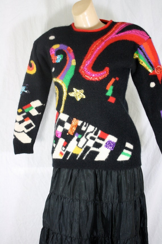 1980's CRAZY ugly Christmas sweater party santa's elf sweater winner xs/s