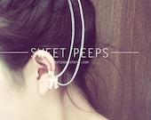 Silver Dainty Bow Ear Cuff Hair Comb