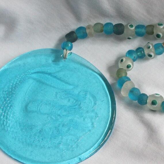 Mermaid SunCatcher - Pressed Glass Sun Catcher