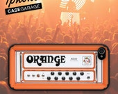 Iphone 5 case  / 4 / 4s - Orange Amp