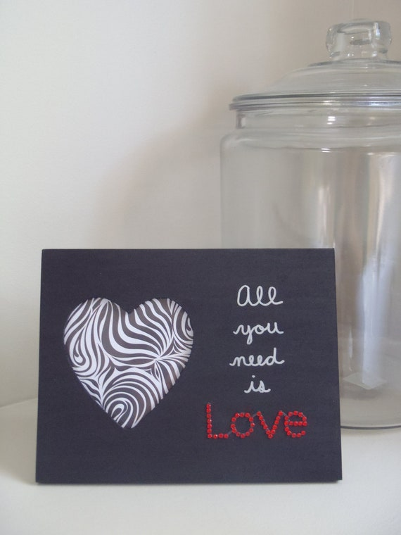 All You Need Is Love Wooden Picture Frame