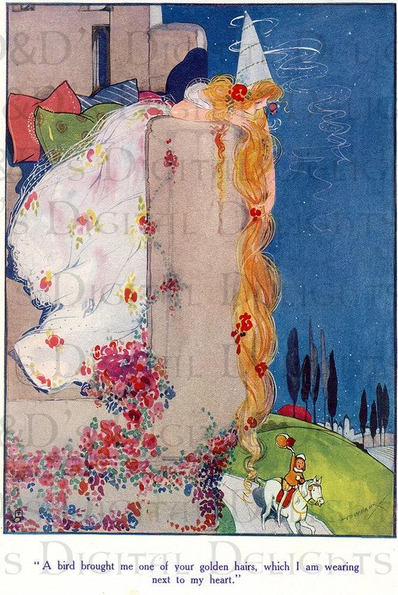 Rare Splendiferous Stunning Hilda Cowham Rapunzel Vintage