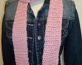 Dusty rose pink skinny scarf, SOFT