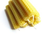 Beeswax candles SET of 10 NATURAL yellow bees wax candle, S size Eco Friendly