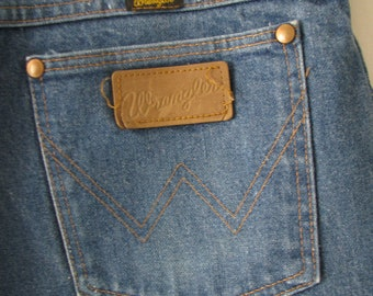 Vintage Wrangler Straight Cut Jeans Made in USA W36 L34 // Vintage Denim // Western Pants