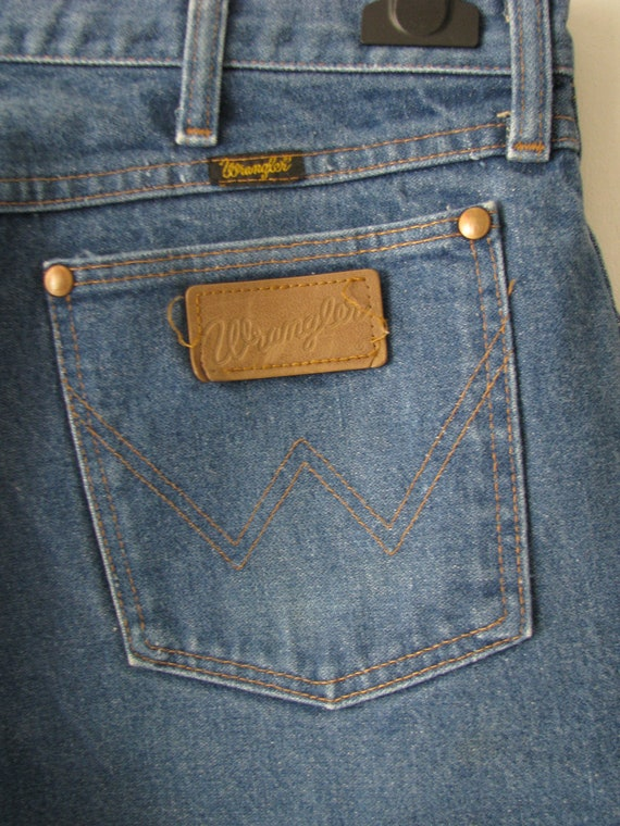 vintage wrangler straight cut jeans made in by yearssinceyesterday. Black Bedroom Furniture Sets. Home Design Ideas