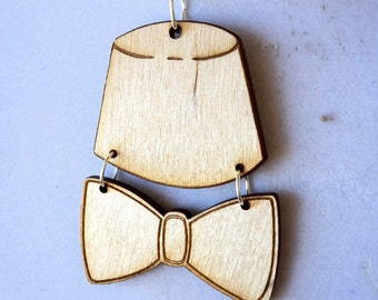 Doctor Who Fez & Bow Tie Necklace