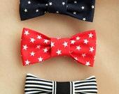 Star & Stripe Bow Hair Clip