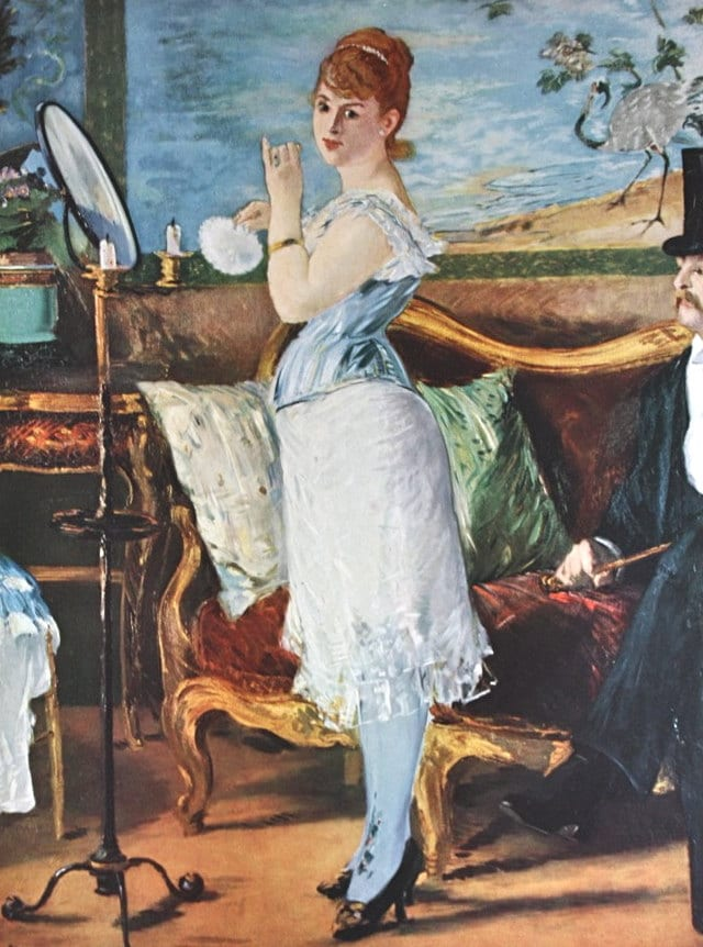 Manet Nana by Edouard Manet Painting Masterpiece 1953 Print