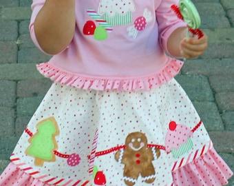 Christmas dress sugarplums candy toddler girls pattern pdf VISIONS OF SUGARPLUMS
