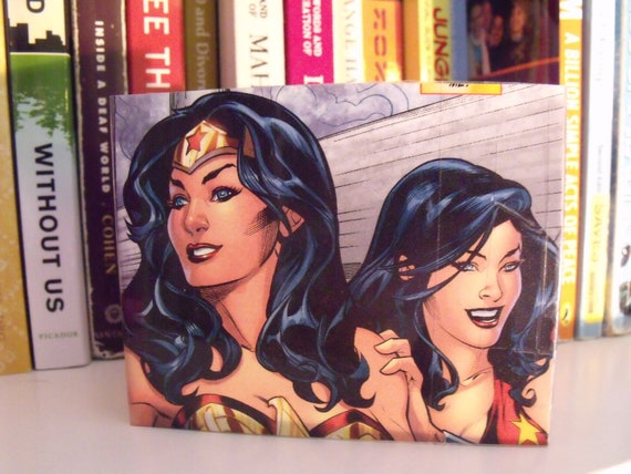 Wonder Woman Upcycled Comic Book Wallet