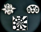 Jason Lee Glass Art Pin Sets Limited Edition