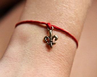 """NOLA Love """"Fleur De Lis"""" Charm String Bracelet"""