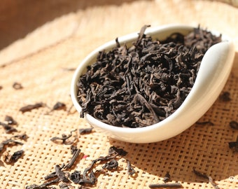 AGED Pu'erh Tea - Yunnan Aged Pu-erh Loose Leaf Tea Premium Level NET 1.1 Oz /30 grams