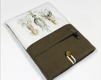 Laptop Sleeve, Laptop Case, Asus Vivobook,  front pocket, Squid , Khaki
