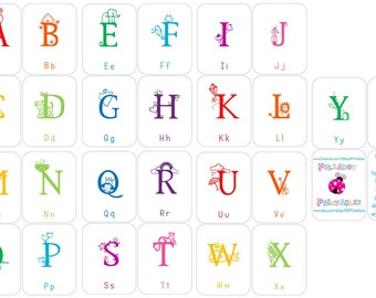 Alphabet Flashcards, Upper and Lowercase - Instant Download - PDF