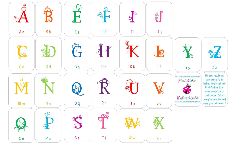 Printable Alphabet Flashcards Without Pictures | April Calendar ...