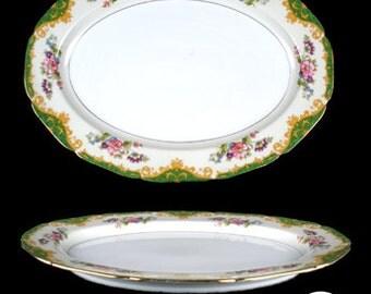 Vintage Noritake Amazon Oval Serving Platter - Japan