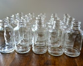 20 Clear Glass Bottles/Bud Vases/Apothecary Bottles/4 oz