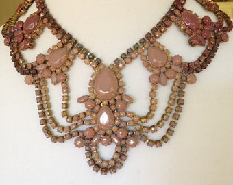 Custom One-Of-A-Kind Hand Painted Vintage Statement Bridal Necklace-Made to Order
